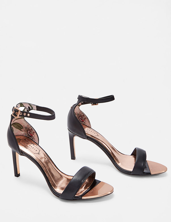 row Womens Accessories Shoes Sandals ULANII Straight heel sandals Black HHW ULANII BLACK