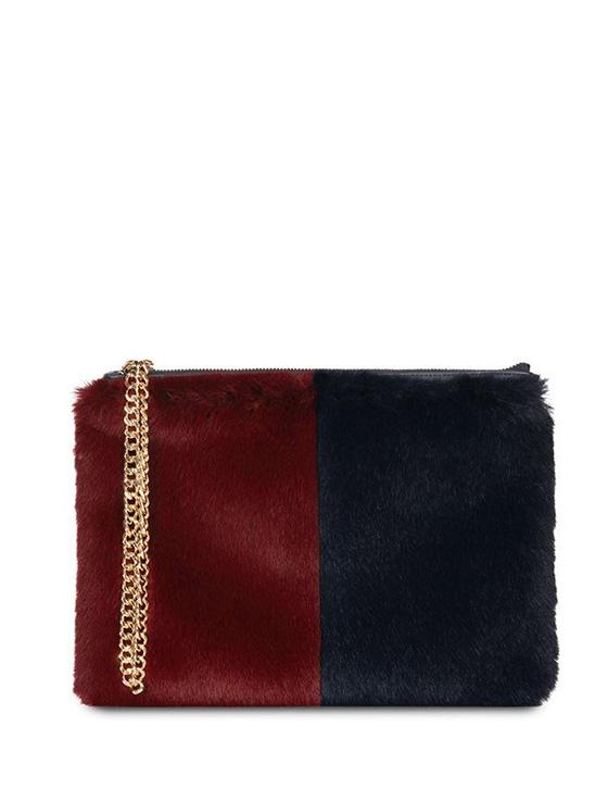 stephanie clutch bag navy burgundy kempton