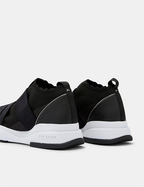uk Womens Accessories Shoes Trainers ADRIHA Elastic strap running trainers Black AW ADRIHA BLACK