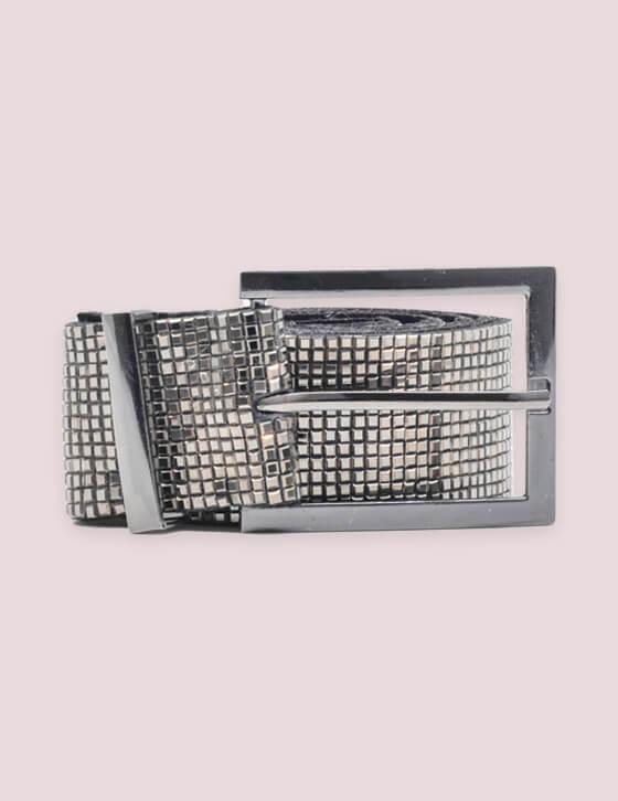 CINTURA-75 Ζώνη Disco Mirror  Με τετράγωνη Αγκράφα