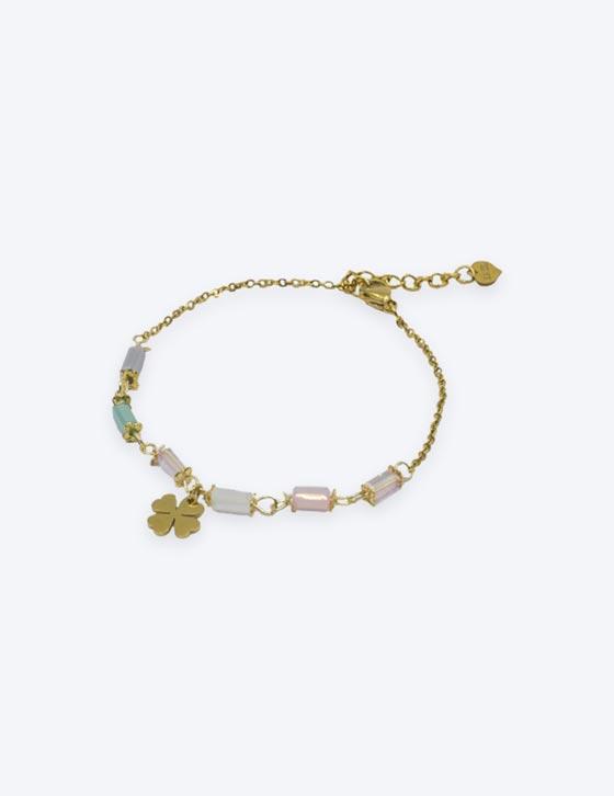 5000 4Leaf Clover/Beads Chain Bracelet