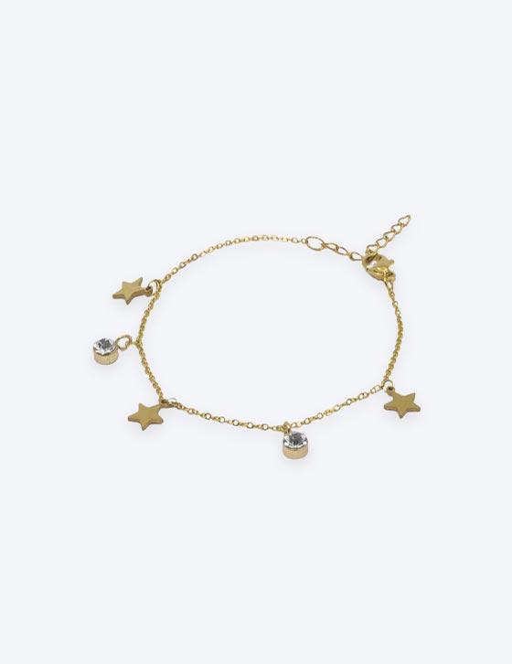 60074 Stars/Strass Chain Bracelet
